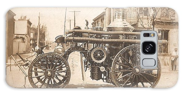 Horse Drawn Fire Engine 1910 Galaxy Case by Virginia Coyle
