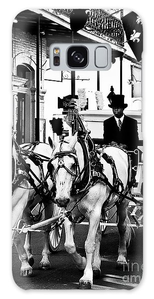 Horse Drawn Funeral Carriage Galaxy Case