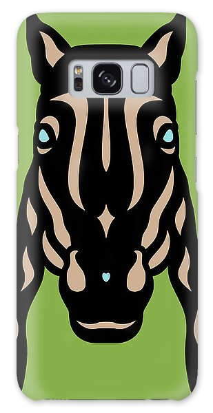 Horse Face Rick - Horse Pop Art - Greenery, Hazelnut, Island Paradise Blue Galaxy Case