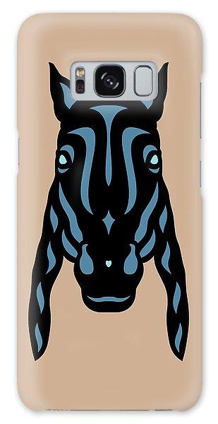 Horse Face Rick - Horse Pop Art - Hazelnut, Niagara Blue, Island Paradise Blue Galaxy Case