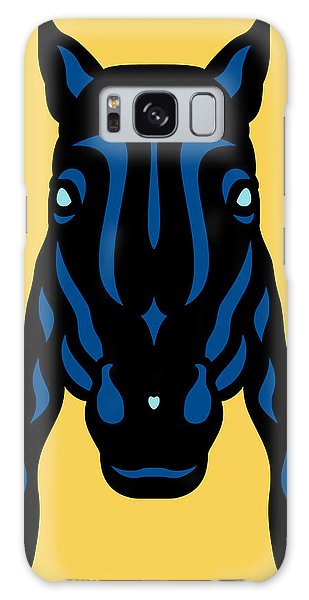 Horse Face Rick - Horse Pop Art - Primrose Yellow, Lapis Blue, Island Paradise Blue Galaxy Case