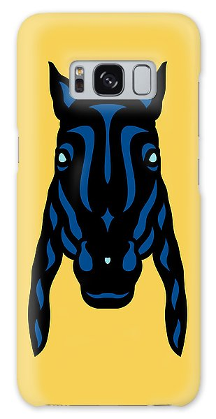 Horse Face Rick - Horse Pop Art - Primrose Yellow, Lapis Blue, Island Paradise Blue Galaxy Case