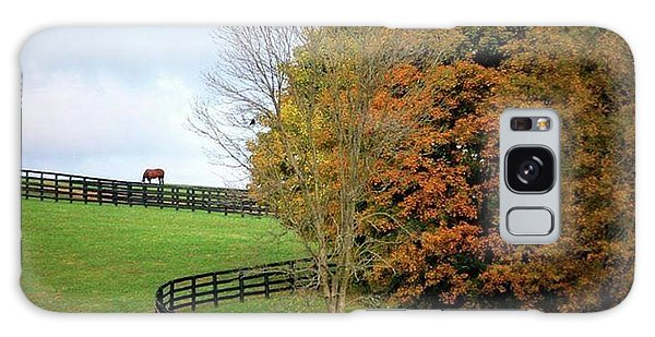 Horse Farm Country In The Fall Galaxy Case