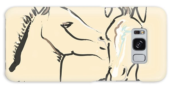 Horse-foals-together 6 Galaxy Case