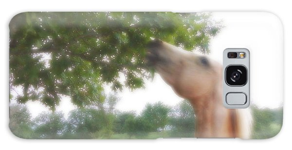 Horse Grazes In A Tree Galaxy Case by Jana Russon
