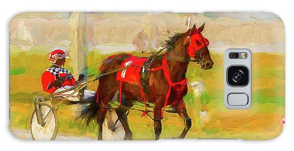Horse, Harness And Jockey Galaxy Case