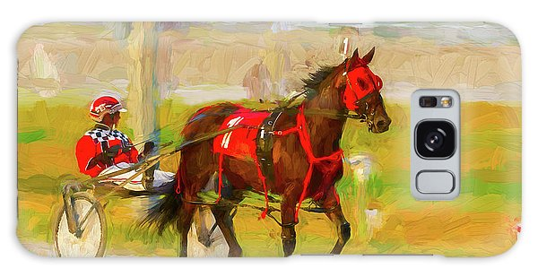 Horse, Harness And Jockey Galaxy Case