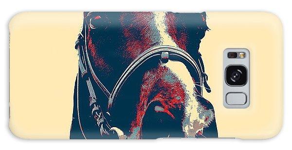 Horse Head Poster Galaxy Case