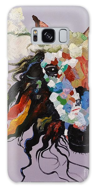 Galaxy Case featuring the painting Puzzle Horse Head  by Rosario Piazza