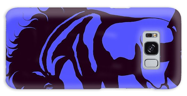 Horse In Blue And Black Galaxy Case by Loxi Sibley