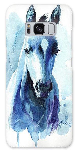 Horse In Blue Galaxy Case