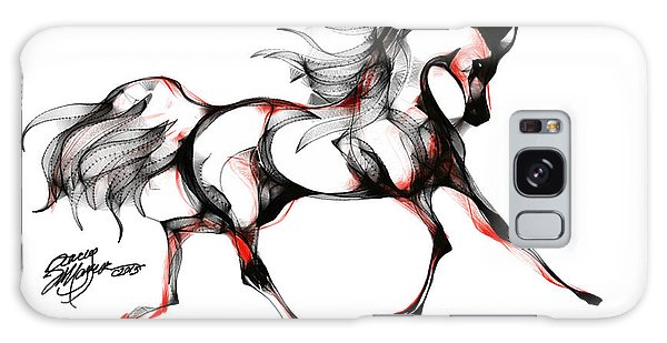 Horse In Extended Trot Galaxy Case
