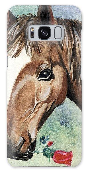 Horse In Love Galaxy Case