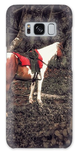 Horse In Red Galaxy Case