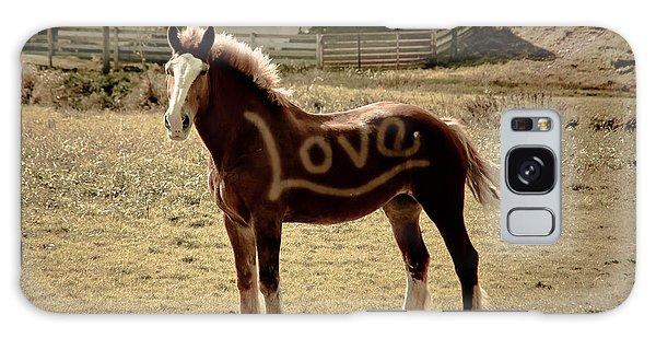 Horse Love Galaxy Case