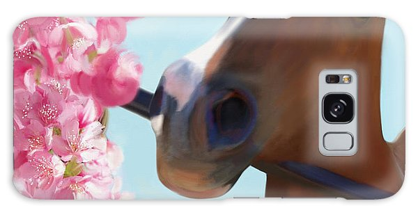 Horse Pink Blossoms Galaxy Case