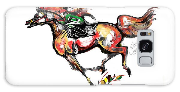 Horse Racing In Fast Colors Galaxy Case by Stacey Mayer