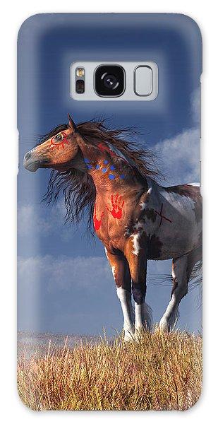Horse With War Paint Galaxy Case by Daniel Eskridge