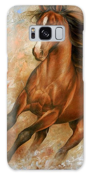Wild Animals Galaxy Case - Horse1 by Arthur Braginsky