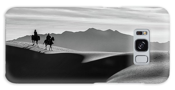 Horseback At White Sands Galaxy Case