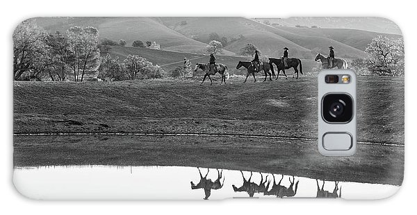 Horseback Landscape Galaxy Case