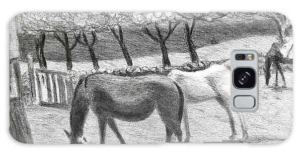 Horses And Trees In Bloom Galaxy Case
