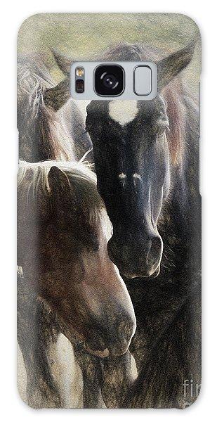 Galaxy Case - Horses by Elijah Knight