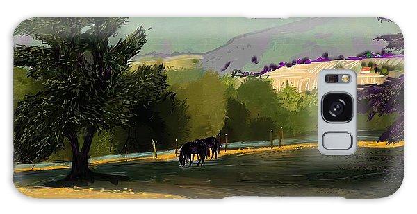 Horses In Field Galaxy Case