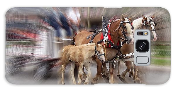 Horses In Motion Galaxy Case by David and Lynn Keller