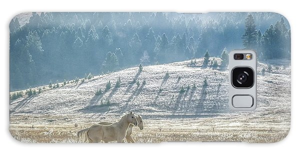 Horses In The Frost Galaxy Case by Keith Boone