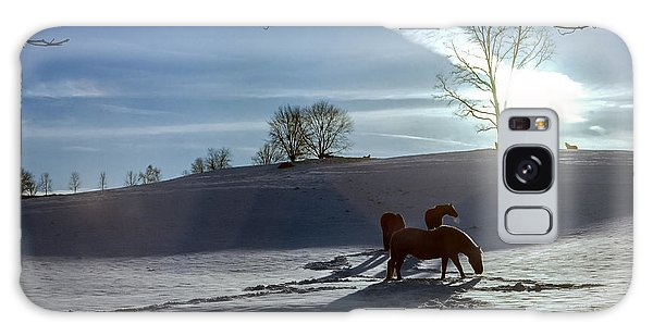 Horses In The Snow Galaxy Case