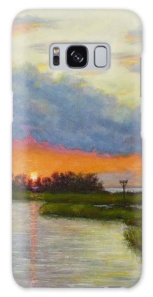 Horseshoe Cove Sunset Galaxy Case