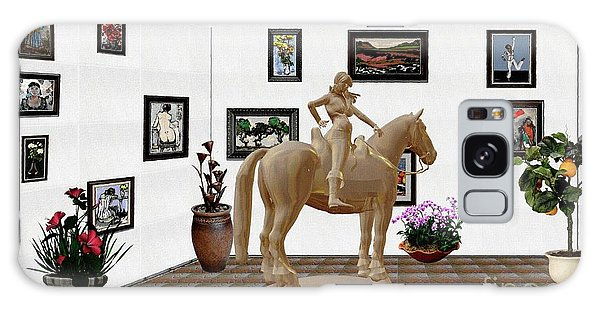 Virtual Exhibition -statue Of Horsewoman 12 Galaxy Case by Pemaro