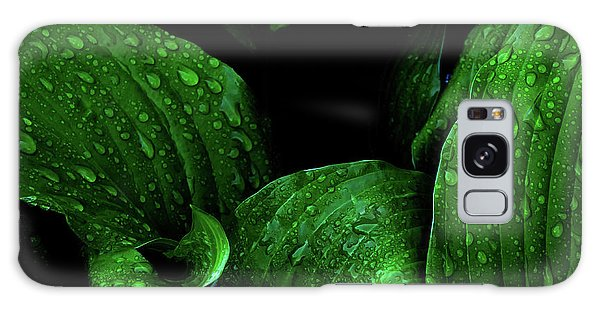 Hostas After The Rain I Galaxy Case