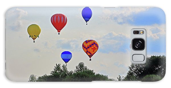 Galaxy Case featuring the photograph Hot Air Balloon Launch by Angela Murdock