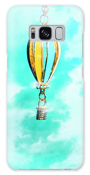 Basket Galaxy Case - Hot Air Balloon Pendant Over Cloudy Background by Jorgo Photography - Wall Art Gallery