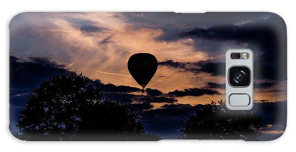 Hot Air Balloon Silhouette At Dusk Galaxy Case