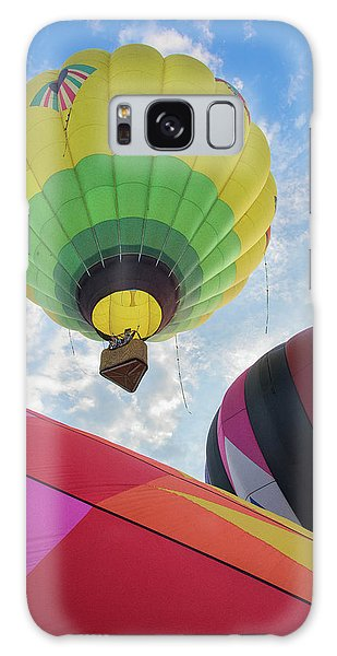 Hot Air Balloon Takeoff Galaxy Case