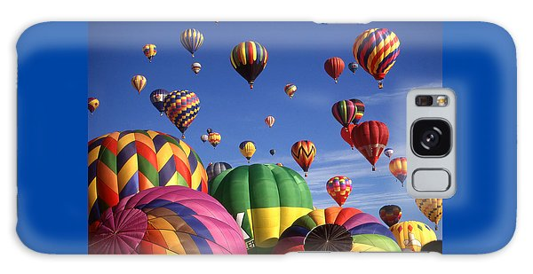 Beautiful Balloons On Blue Sky Galaxy Case
