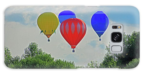 Galaxy Case featuring the photograph Hot Air Balloons In The Sky by Angela Murdock