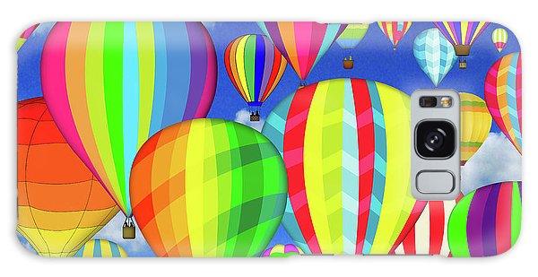 Hot Air Balloons Galaxy Case - Hot Air Balloons by Jean Plout