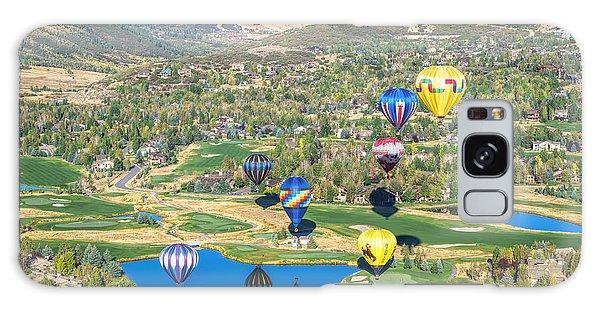 Hot Air Balloons Over Park City Galaxy Case