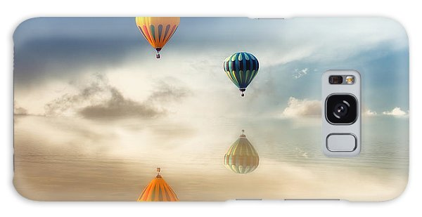 Hot Air Balloons Water Reflections Galaxy Case by Tracie Kaska
