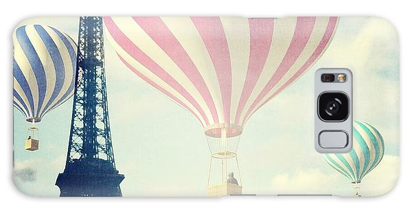 Hot Air Balloons In Paris Galaxy Case