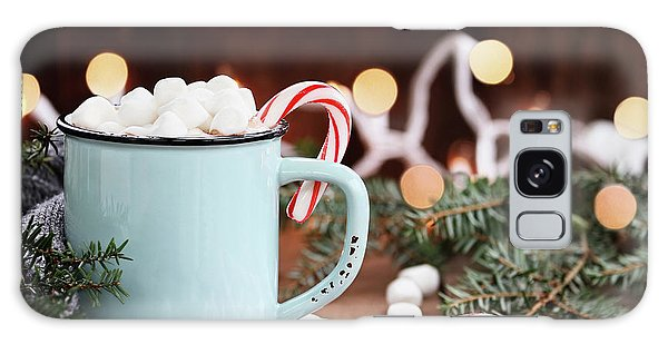 Hot Cocoa With Marshmallows And Candy Canes Galaxy Case by Stephanie Frey