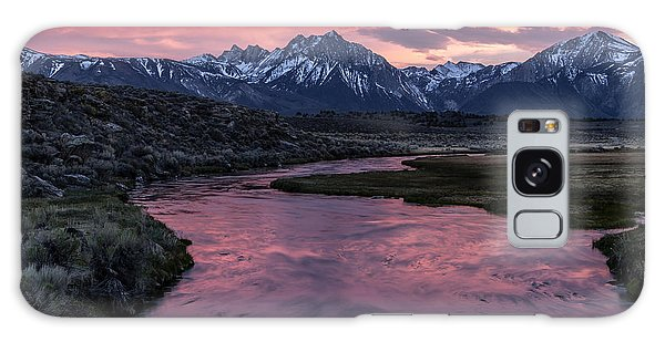 Hot Creek Sunset Galaxy Case