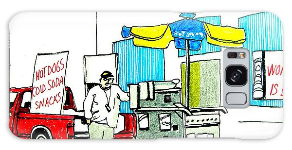 Hot Dog Guy Of Asbury Park Galaxy Case by Patricia Arroyo