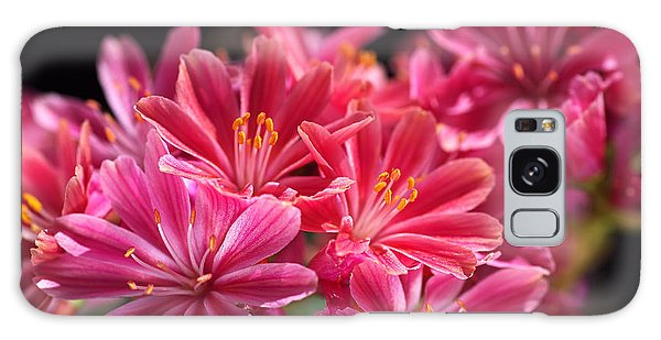 Hot Glowing Pink Delight Of Flowers Galaxy Case