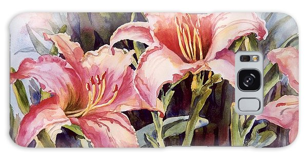 Hot Lillies Galaxy Case by Roxanne Tobaison