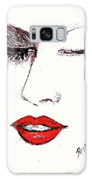 Hot Lips Galaxy Case by Desline Vitto